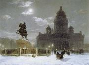 Monument to Peter the Great on Senate Squar in St.Petersburg Vasily Surikov