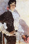 The Woman of spanish had on a shawl Black Alexander Yakovlevich GOLOVIN