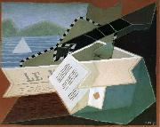 Guitar in front of the sea Juan Gris