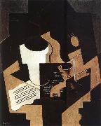 Guitar Pipe and Score Juan Gris