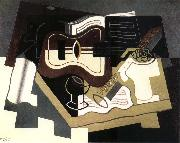 Guitar and clarinet Juan Gris