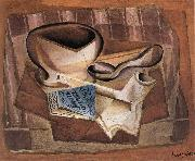 Bottle book and soup spoon Juan Gris
