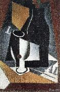 Bottle Cup and newspaper Juan Gris