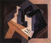Fruit dish and bottle Juan Gris