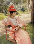 Park in the afternoon William Merritt Chase