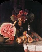 Still life and watermelon William Merritt Chase