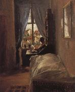 The Artist-s Bedroom in the Ritterstrabe Adolph von Menzel