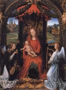 Madonna Enthroned with Child and Two Angels Hans Memling