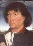 Portrait of a Man at Prayer before a Landscape Hans Memling
