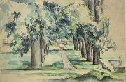 Avenue of Chestnut Trees at Jas de Bouffan Paul Cezanne