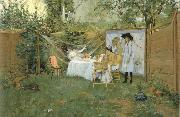 The Open-Air Breakfast William Merritt Chase