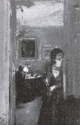 Living room and sister of the artist Adolph von Menzel