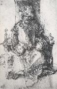 An orinetal Ruler Enthroned with traces of the artist-s monogram Albrecht Durer