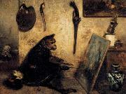 The Monkey Painter Alexandre Gabriel Decamps