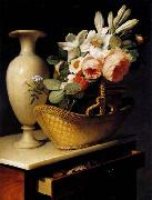 Still-Life with a Basket of Flowers Antoine Berjon