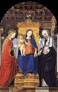 The Virgin and Child Enthroned with Saint Catherine of Alexandria and Saint Catherine of Siena Bergognone