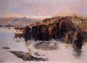 The Buffalo Herd Charles M Russell