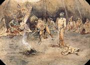 Sioux Torturing a Blackfoot Brave Charles M Russell