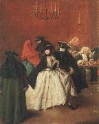 Masked venetians in the Ridotto Pietro Longhi