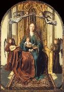 The Virgin and Child Enthroned,with four Angels Quentin Massys