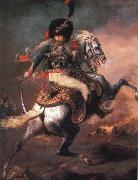 An Officer of the Imperial Horse Guards Charging Theodore Gericault