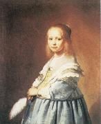 Portrait of a Girl Dressed in Blue VERSPRONCK, Jan Cornelisz