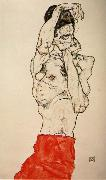 Male nude with a Red Loincloth Egon Schiele