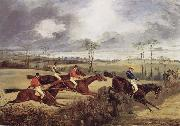 A Steeplechase, Near the Finish Henry Thomas Alken