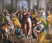 The Christ is driving businessman in the fane El Greco