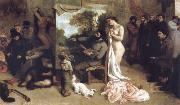 Detail of the Studio of the Painter,a Real Allegory Gustave Courbet