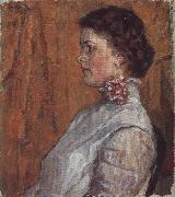 Unknown Girl against a Yellow Background Vasily Surikov