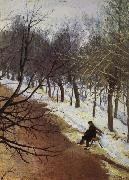 Zubovsky Boulevard in Winter Vasily Surikov