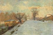 Road on the Banks of the Seine at Neuilly in Winter Albert Lebourg