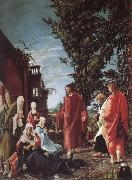 Christ takes farval of their mother Albrecht Altdorfer