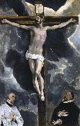 The Crucifixion with two donors El Greco