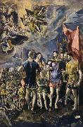 The Martyrdom of St Maurice El Greco