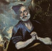 The Tears of St Peter of all the old masters El Greco