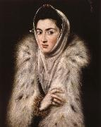Lady in a fur wrap El Greco