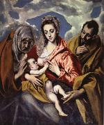 The Holy Family iwth St Anne El Greco