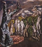 The Vision of St John El Greco