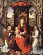 Madonna nad Child with Angels Hans Memling