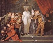 Figures from the Italian Commedia dell arte Jean antoine Watteau