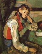 Boy in a Red waiscoat Paul Cezanne