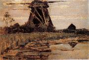 French mill near the river Piet Mondrian