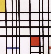 Conformation with red yellow blue Piet Mondrian