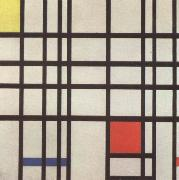Composition with red,yellow and blue Piet Mondrian