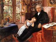 James Wyatt and His Granddaughter Sir John Everett Millais