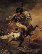 An Officer of the Chasseurs Commanding a Charge Theodore Gericault