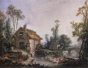 Landscape with a Watermill Francois Boucher