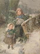 The Holly Gatherers (mk46) Frederic james Shields,ARWS